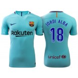Jordi Alba #18 Barcelona 2017-18 Sky Blue Away Replica Jersey