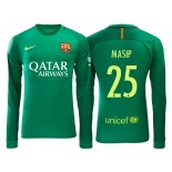 Men's Barcelona Jordi Masip Green 2016/17 Road Goalkeeper Shirt