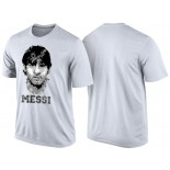 Men's Lionel Messi Barcelona White T-Shirt