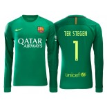 Men's Barcelona Marc-Andre ter Stegen Green 2016/17 Road Goalkeeper Shirt