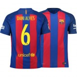 Barcelona 2016/17 Dani Alves Home Jersey - Authentic Blue Red Stripes Barcelona #6 Short Shirt For Sale Size XS S M L XL