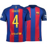 Barcelona 2016/17 Ivan Rakitic Home Jersey - Authentic Blue Red Stripes Barcelona #4 Short Shirt For Sale Size XS S M L XL