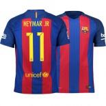 Barcelona 2016/17 Neymar JR Home Jersey - Replica Blue Red Stripes Barcelona #11 Short Shirt For Sale Size XS S M L XL