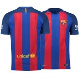 Custom Barcelona 2016/17 Home Jersey - Authentic Blue Red Stripes Barcelona Short Shirt For Sale Size XS S M L XL
