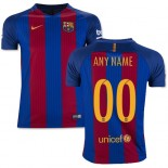 Youth 16/17 Barcelona Customized Blue & Red Stripes Home Authentic Jersey