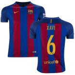 Youth 16/17 Barcelona #6 Xavi Hernandez Blue & Red Stripes Home Replica Jersey