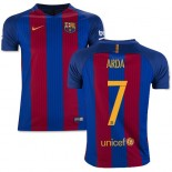Youth 16/17 Barcelona #7 Arda Turan Blue & Red Stripes Home Replica Jersey