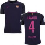 Youth 16/17 Barcelona #4 Ivan Rakitic Purple Away Replica Jersey
