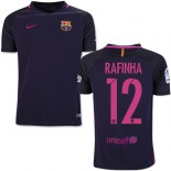 Youth 16/17 Barcelona #12 Rafinha Purple Away Authentic Jersey