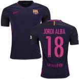 16/17 Barcelona #18 Jordi Alba Purple Away Replica Jersey