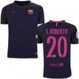 Youth 16/17 Barcelona #20 Sergi Roberto Purple Away Authentic Jersey