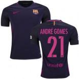 16/17 Barcelona #21 Andre Gomes Purple Away Replica Jersey
