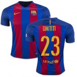 16/17 Barcelona #23 Samuel Umtiti Blue & Red Stripes Home Replica Jersey