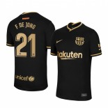Womens 2020/21 Womens Barcelona #21 F. DE JONG Away Black Replica Jersey