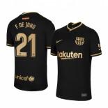 2020/21 Barcelona #21 F. DE JONG Away Black Replica Jersey