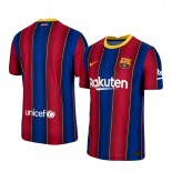 Womens 2020/21 Womens Barcelona Home Blue Red Replica Jersey