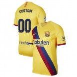 2019/20 Barcelona Stadium #00 Custom Yellow Away Authentic Jersey