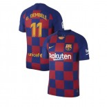 2019/20 Barcelona #11 Ousmane Dembele Blue Red Home Replica Jersey