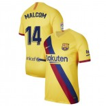 2019/20 Barcelona Stadium #14 Malcom Yellow Away Replica Jersey