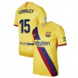 2019/20 Barcelona Stadium #15 Clement Lenglet Yellow Away Replica Jersey