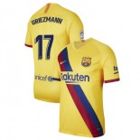 2019/20 Barcelona Stadium #17 Antoine Griezmann Yellow Away Authentic Jersey