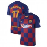 2019/20 Barcelona #17 Antoine Griezmann Blue Red Home Authentic Jersey