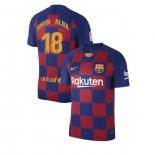 2019/20 Barcelona #18 Jordi Alba Blue Red Home Authentic Jersey