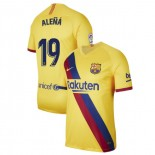 2019/20 Barcelona Stadium #19 Carles Alena Yellow Away Authentic Jersey