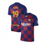 2019/20 Barcelona #19 Carles Alena Blue Red Home Authentic Jersey