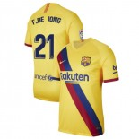 2019/20 Barcelona Stadium #21 Frenkie de Jong Yellow Away Authentic Jersey