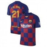 2019/20 Barcelona #21 Frenkie de Jong Blue Red Home Authentic Jersey