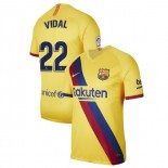 2019/20 Barcelona Stadium #22 Arturo Vidal Yellow Away Replica Jersey