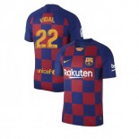 2019/20 Barcelona #22 Arturo Vidal Blue Red Home Replica Jersey