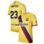 2019/20 Barcelona Stadium #23 Samuel Umtiti Yellow Away Replica Jersey
