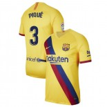 2019/20 Barcelona Stadium #3 Gerard Pique Yellow Away Authentic Jersey