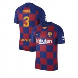 2019/20 Barcelona #3 Gerard Pique Blue Red Home Authentic Jersey