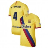 2019/20 Barcelona Stadium #4 Ivan Rakitic Yellow Away Replica Jersey