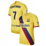 2019/20 Barcelona Stadium #7 Philippe Coutinho Yellow Away Authentic Jersey