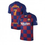 2019/20 Barcelona #7 Philippe Coutinho Blue Red Home Authentic Jersey