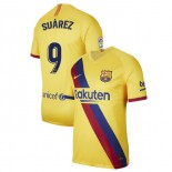 2019/20 Barcelona Stadium #9 Luis Suarez Yellow Away Replica Jersey