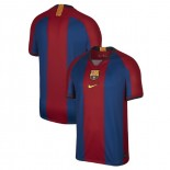 Barcelona El Clasico Blue Red Retro Replica Jersey