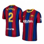 Womens 2020/21 Womens Barcelona #2 Nelson Semedo Home Blue Red Replica Jersey