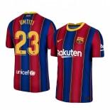 2020/21 Barcelona #23 Samuel Umtiti Home Blue Red Replica Jersey