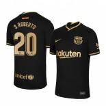 Womens 2020/21 Womens Barcelona #20 S.Roberto Away Black Authentic Jersey