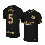 Womens 2020/21 Womens Barcelona #5 Sergio Busquets Away Black Authentic Jersey