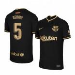 2020/21 Barcelona #5 Sergio Busquets Away Black Authentic Jersey