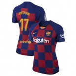 Women's 2019/20 Barcelona Home #17 Antoine Griezmann Blue Red Authentic Jersey