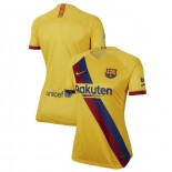 Women's 2019/20 Barcelona Away Stadium Yellow Authentic Jersey
