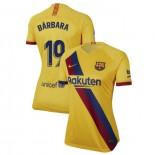 Women's 2019/20 Barcelona Away Stadium #19 Barbara Latorre Yellow Replica Jersey
