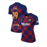 Women's 2019/20 Barcelona Home #19 Carles Alena Blue Red Replica Jersey